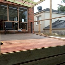 Deck in construction