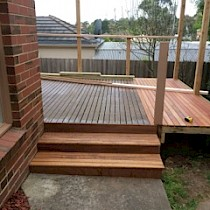 Deck steps in construction by Total Windows and Doors