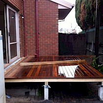 Timber Decking During Construction